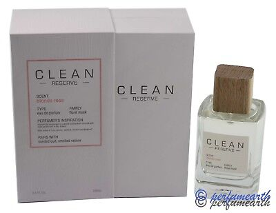 - Clean Reserve Blonde Rose By Clean 3.4 /3.3 Edp Spray For Women New In Box