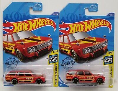 Lot of 2 New For 2020 Hot Wheels 510 Datsun Bluebird Wagon MOMO MONMC