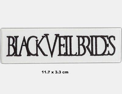 Black Veil Brides Rockband Musik Logo Bestickt Zum Aufbügeln Abzeichen Kostüm