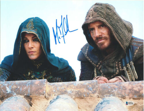 MICHAEL FASSBENDER SIGNED 11X14 PHOTO ASSASSIN'S CREED BECKETT BAS AUTOGRAPH Q