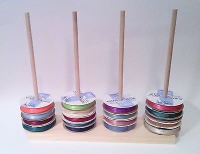 "Scrapbook Ribbon Holder Wire Storage Rack Organizer Holds 70 Spools  ""SPECIAL"""