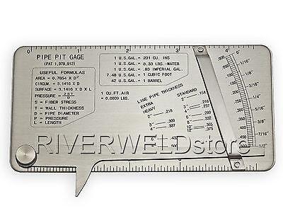 Pipe Pit Welding Gauge Gage Test Ulnar Welder Inspection