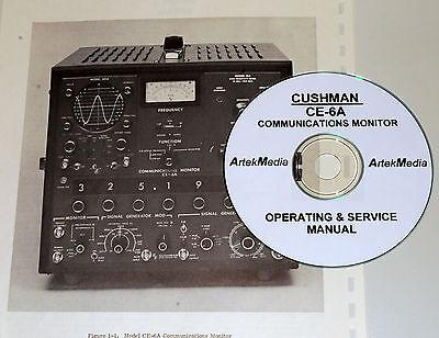 Cushman Ce-6a Communications Monitor Operating Service Manual