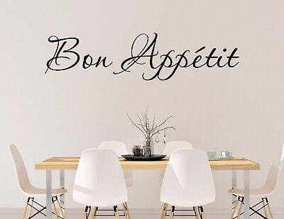 BON APPETIT wall vinyl sticker decal kitchen decor cook art