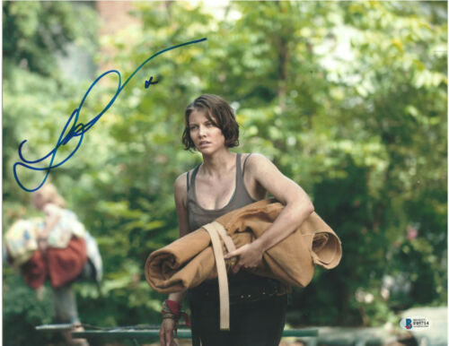 Entertainment Memorabilia Lauren Cohan Signed Autograph 8x10 Photo The Walking Dead Actress Beckett Coa Movies