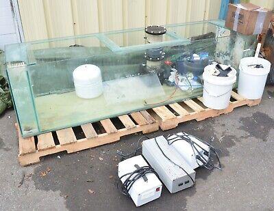 """200 Gallon 96"""" x 24"""" x 24"""" Salt Water Glass Aquarium Fish Tank w/ Acc. Halide"""