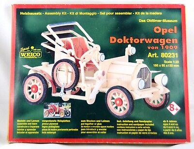 Holzbausatz Opel Doktorwagen von 1909 Art.-Nr. 80231 Maßstab 1:20 Neu OVB