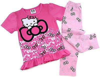 Girls Hello Kitty Pink Pajamas 2 Pc Shirt Pants Set ~ Ages 2 to 6](Hello Kitty Girls Pajamas)