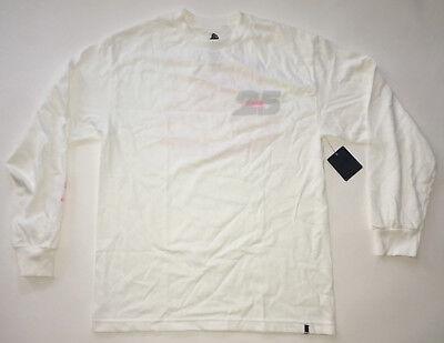 Diadora T-shirt - X-Large Clothing Diadora 24 Kilates Medium Men's White Pink Long Sleeve Shirt