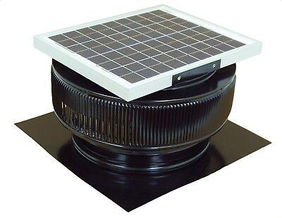 Aura Vent Solar Fan 14 In Exhaust Roof Ventilator 15w 17v 1007 Cfm Black