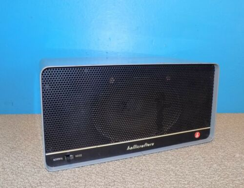 Hallicrafters R-48A External Communications Radio Speaker Free Shipping