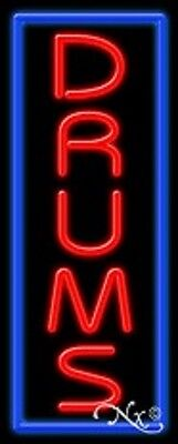 New Drums 32x13 Vertical Border Real Neon Sign Wcustom Options 11544