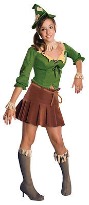 Scarecrow Wizard of Oz Green Cute Dress Up Halloween Deluxe Teen Costume