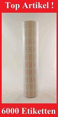 6000 Etiketten in Weiß Preisauszeichner MX-5500 MX-6600 Herlitz Maße 21 X 12