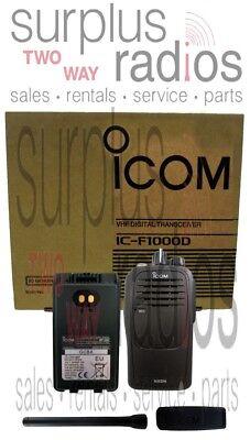 New Icom F1000d 01 Idas Digital Vhf 5 Watt 16 Channel 136-174 Mhz Radio Security