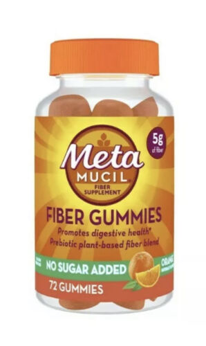 Metamucil Gummies Fiber No Sugar Added 72 Gummies New Sealed