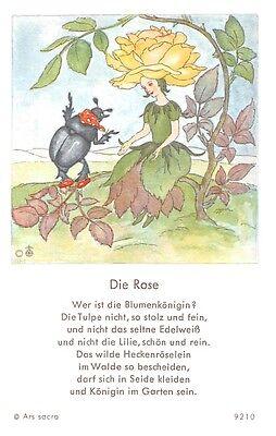 "Fleißbildchen Heiligenbild Gebetbild "" IDA BOHATTA "" Holy card Ars sacra"" H297"""