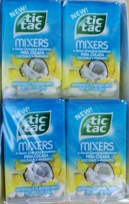 Tic Tac Mixers Pina Colada Coconut Pineapple PACK of 12.   Best by date Feb -
