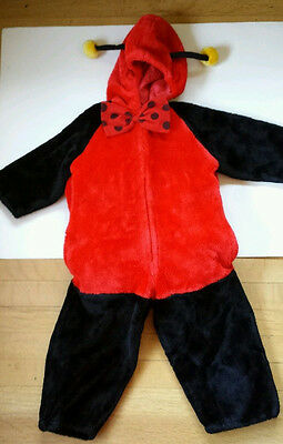 BATTAT Toddler Girls S Small 2 3 COSPLAY LADYBUG HALLOWEEN COSTUME Red Stuffed