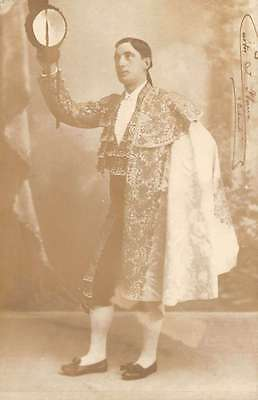 Spain studio photo Matador in full costume real photo pc Y13590](Spain Costume)