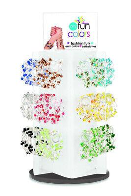 Plexiglass Acrylic 18 Bar Bracelet Watch Jewelry Rotating Spinner Display Rack