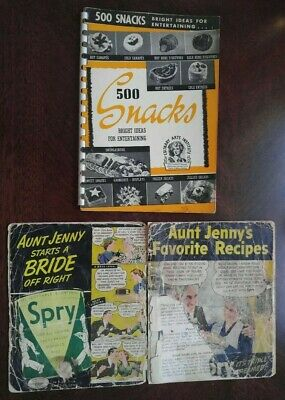 RARE Vtg 500Snacks Bright Ideas for Entertaining Culinary Arts Institute1940*EUC