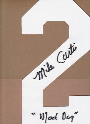 MIKE CURTIS SIGNED BALTIMORE COLTS WHITE JERSEY NUMBER #2