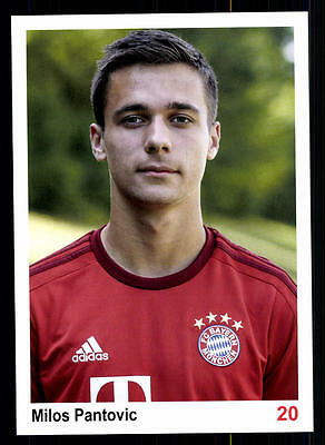 Milos Pantovic Autogrammkarte Bayern München II 2015-16