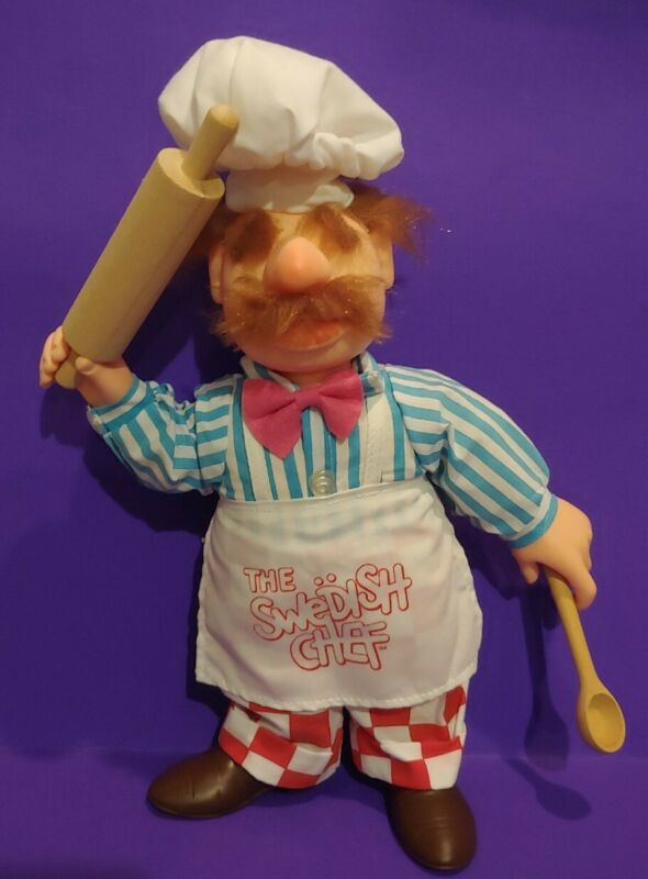 "VINTAGE 1988 RARE Muppets THE SWEDISH CHEF Doll 13"" Figure EUC!"