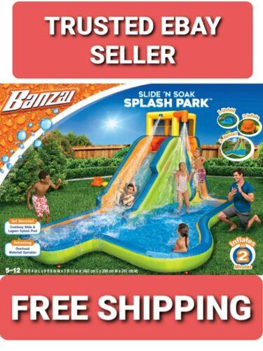 Banzai Spring & Summer Toys Slide 'N Soak Splash Park Cons