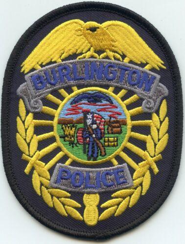 BURLINGTON IOWA IA State Seal POLICE PATCH