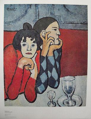 PICASSO -Motiv: Harlekin und Gesellin hochw. LICHTDRUCK Kunstdruck NEU -Rarität