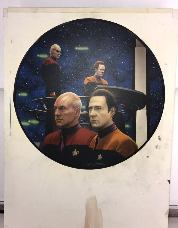 Star Trek Generations, Keith Birdsong, Painting Original Art, Hamilton Plate
