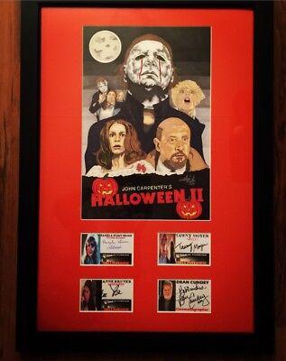 20x28 Halloween 2 Michael Myers Original Art Movie Poster With Cast