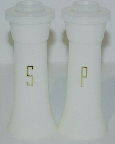 """NEW Tupperware LARGE 6"""" Salt & Pepper Shakers Hourglass Vintage USA NOS"""