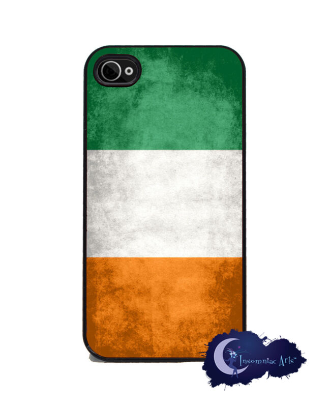 Irish Flag- Case for iPhone 4 and 4s, Cell Phone Cover - Ireland