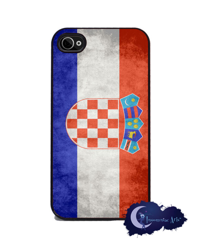 Croatian Flag - iPhone 4 and 4s Silicone Rubber Cover, Cell Phone Case, Croatia