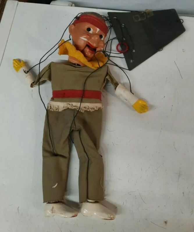 Vintage P. Puppet String Puppet Marionette Native American folk art toy