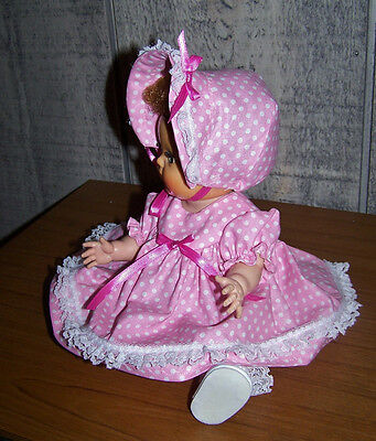 "11-12"" TINY TEARS  DOLL  DRESS &   BONNET NEW ADORABLE IN SPRING PINK on Rummage"