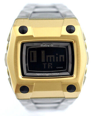 CASIO BABY-G BG2100-8 Square Yellow Digital Dial Grey Clear Resin Strap