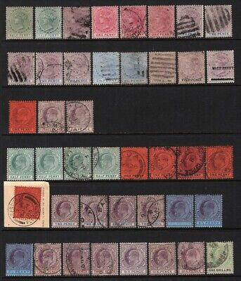 Lagos 1882-1904 QV-E7 Group of 43 Stamps Mint or Used
