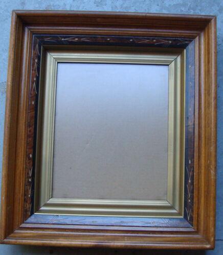 "antique ca 1880 walnut picture frame, 18 1/2"" x 16 1/2""   *"