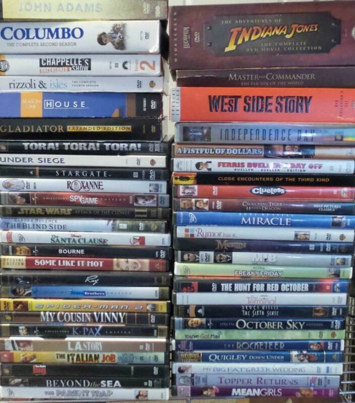 Lot of 50 Different DVD Movies & Television Series Collection (Lot 503)