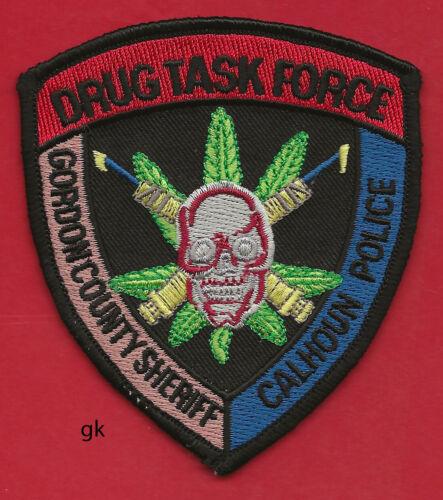 GEORGIA GORDON COUNTY SHERIFF  CALHOUN POLICE  DRUG TASK FORCE SHOULDER PATCH