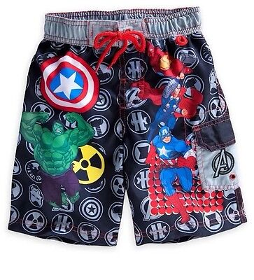 Disney Store Marvel Avengers Hulk Iron Man Thor Trunks Swim Shorts Suit Size 4 (Iron Batman Suit)
