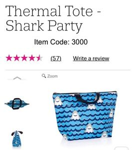 Thirtyone Lunch Tote, NEW in package. Sharks