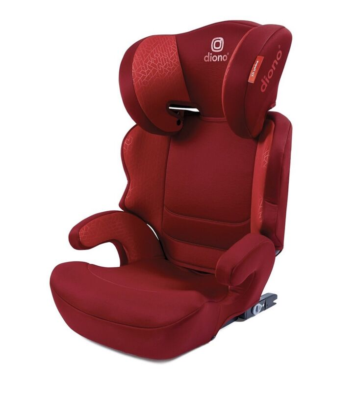 Diono Everett NXT Highback Car Booster Seat with Latch, Red, Manufact. 05/2021
