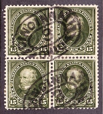 US 284 15c Clay Used Block of 4 F-VF SCV $90