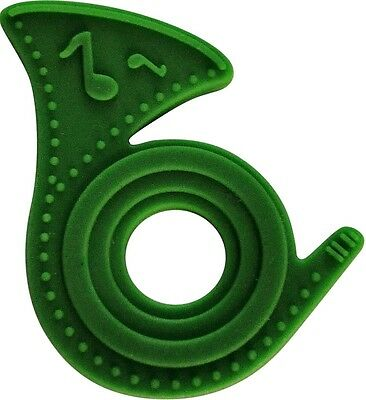 New Best Baby Teether-Green French Horn-100% Non-toxic - BPA + Phthalate