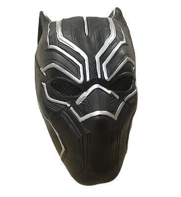Latex Masken Uk (UK schwarz Panther Marvel Maske Kinder Film Erwachsene Kostüm geschnürt)